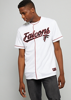 NFL Atlanta Falcons White Baseball Jersey