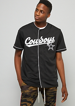 NFL Dallas Cowboys Black Baseball Jersey