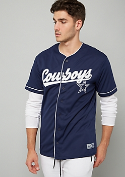 NFL Dallas Cowboys Navy Button Down Jersey