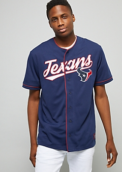 NFL Houston Texans Navy Graphic Baseball Jersey
