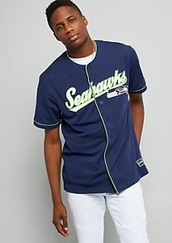 NFL Seattle Seahawks Navy Baseball Jersey