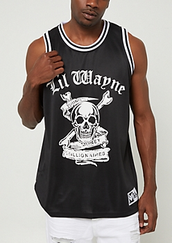 Black Lil Wayne Weezy Jersey Tank Top