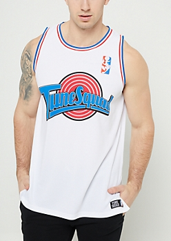 White Tune Squad Mesh Jersey Tank Top