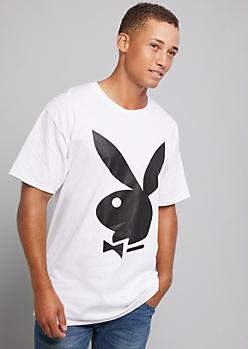 White Playboy Bunny Graphic Tee