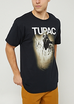Black Tupac Smoking Tee