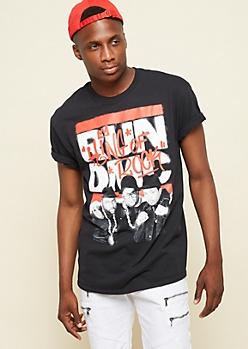 Black Graffiti Run DMC Graphic Tee