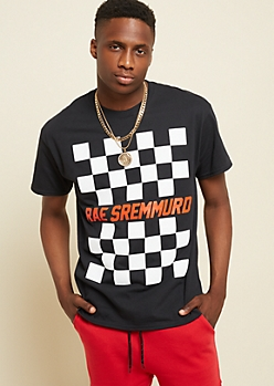 Black Checkered Rae Sremmurd Tee