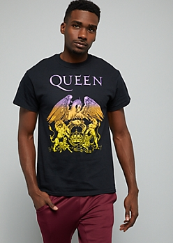 Black Rainbow Queen Logo Crew Neck Tee