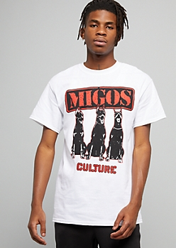White Migos Culture Dogs Crew Neck Tee