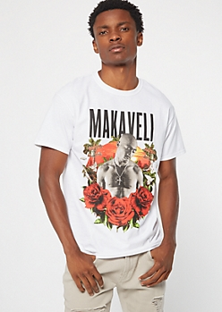 White Rose Makaveli Graphic Tee
