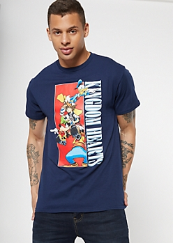 Navy Kingdom Hearts Graphic Tee