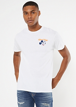 White Mickey Mouse Pizza Graphic Tee