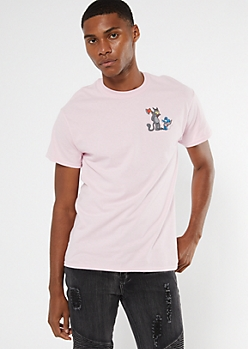 Pink Itchy Scratchy Show Graphic Tee