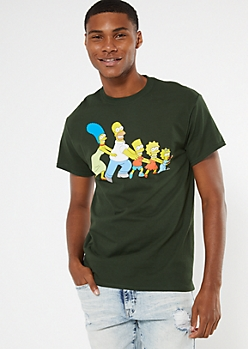 Green Simpsons Conga Graphic Tee
