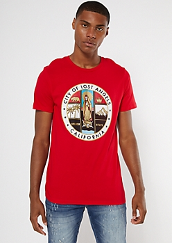 Red City Of Lost Angels Graphic Tee