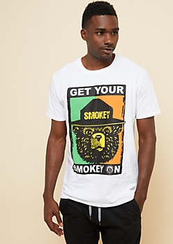 White Get Your Smokey On Graphic Tee