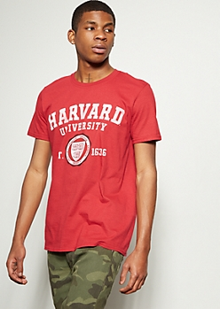 Red Harvard University Graphic Tee