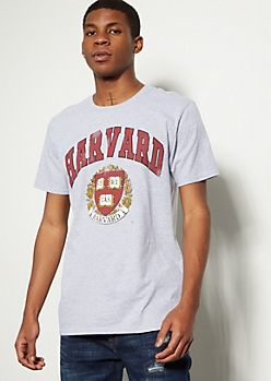 Gray Harvard University Graphic Tee