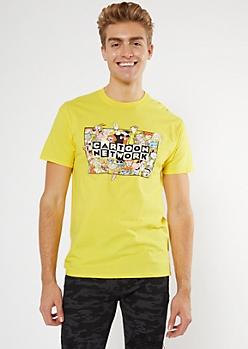 Yellow Cartoon Network Group Graphic Tee