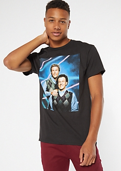 Black Picture Step Brothers Graphic Tee
