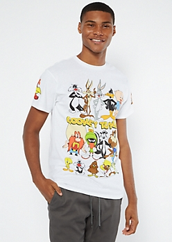 White Looney Tunes Graphic Tee