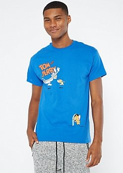 Royal Blue Tom And Jerry Graphic Tee