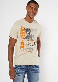 Sand Tom And Jerry Sketch Graphic Tee