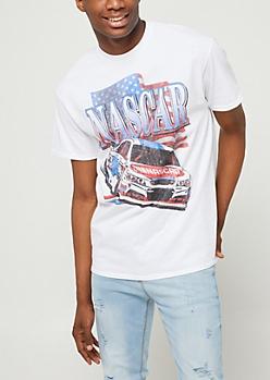White NASCAR Flag Tee