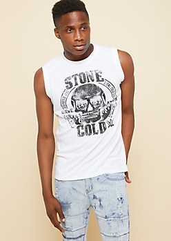 New Balance White Stone Cold Steve Austin Muscle Tank Top