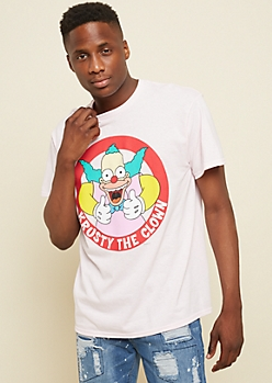 Pink Krusty the Clown Graphic Tee