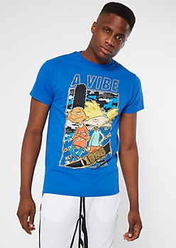 Royal Blue Hey Arnold Vibe Graphic Tee