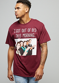 Burgundy I Got Out Of Bed This Morning Tee