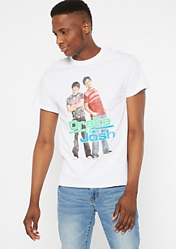 White Drake And Josh Graphic Tee
