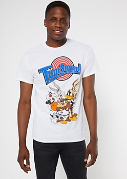 Tune Squad Jersey White Graphic Tee