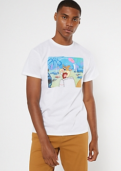 White Sandy SpongeBob SquarePants Graphic Tee