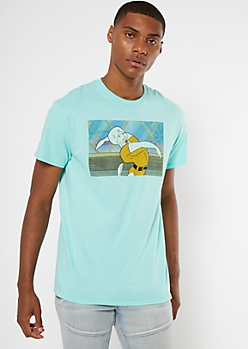 Mint Squidward SpongeBob SquarePants Graphic Tee