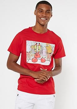 Red Mr. Krabs SpongeBob SquarePants Graphic Tee
