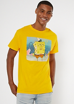 Yellow SpongeBob SquarePants Graphic Tee