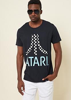 Black Checkered Atari Tee