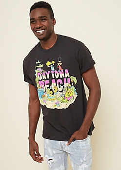 Black Nickelodeon Daytona Beach Tee