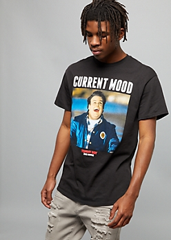 Black Current Mood Tommy Boy Graphic Tee