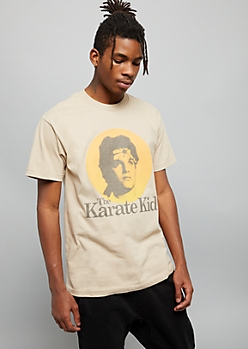 Sand Karate Kid Crew Neck Graphic Tee