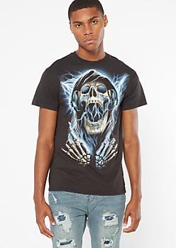 Black Lightning Reaper Graphic Tee