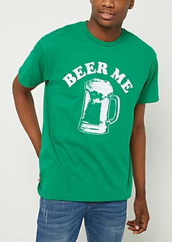 Kelly Green Beer Me Tee