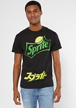 Black Sprite Kanji Graphic Tee