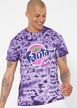 Purple Tie Dye Fanta Graphic Tee