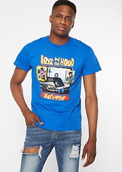 Blue Boyz N The Hood Kanji Graphic Tee