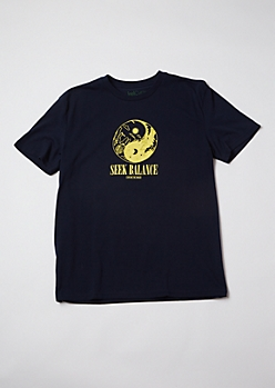 Black Seek Balance Yin Yang Graphic Tee
