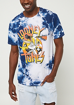 Blue Tie Dye Rock Looney Tunes Tee