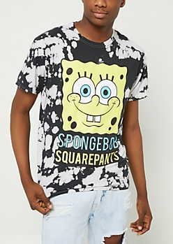 Spongebob Squarepants Watercolor Tie Dye Tee